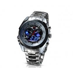 Pánské hodinky TVG LED Steel s bílým ciferníkem