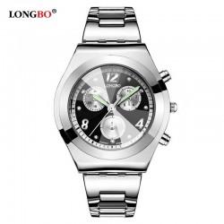 Dámské hodinky LONGBO 8399 s černým ciferníkem