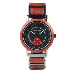 Dámské dřevěné hodinky Bobo Bird W-R13 červené