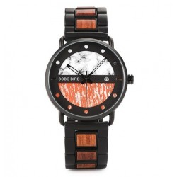 Pánské dřevěné hodinky Bobo Bird S01 oranžové