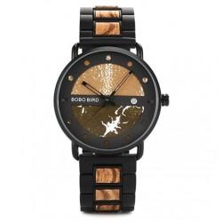 Pánské dřevěné hodinky Bobo Bird S01 zelené