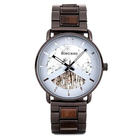 Pánské dřevěné hodinky Bobo Bird V-R30 bílé