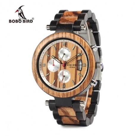 Pánské dřevěné hodinky Bobo Bird Stopwatch P17