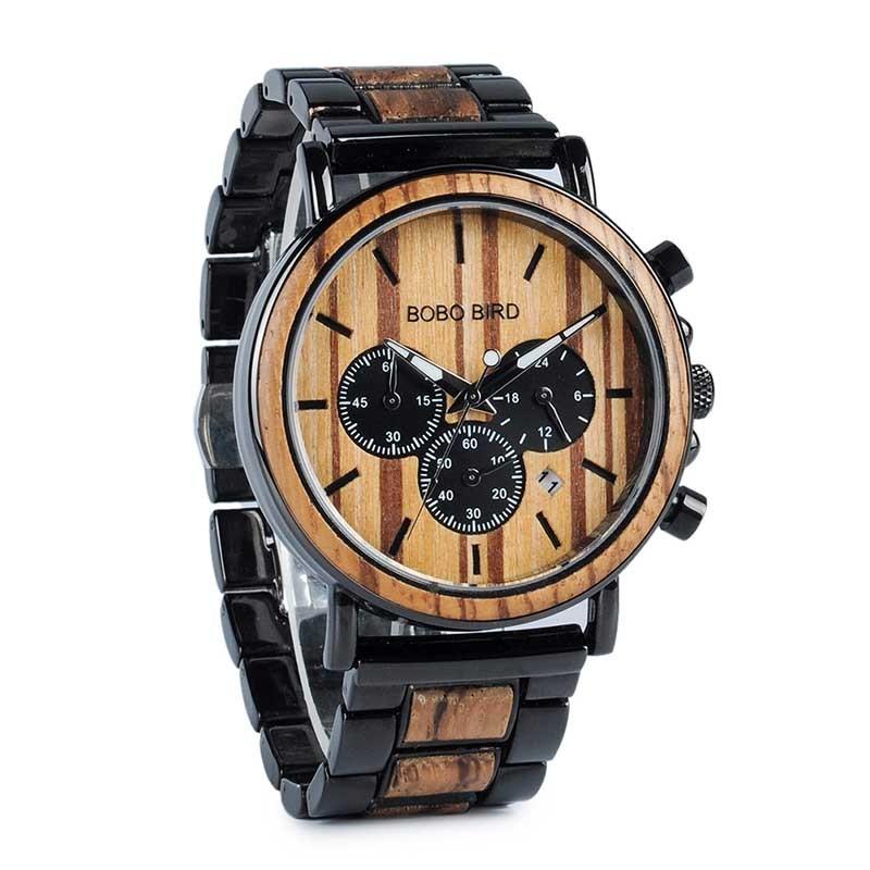 e9b26584a Pánské dřevěné hodinky Bobo Bird Stopwatch B-P09