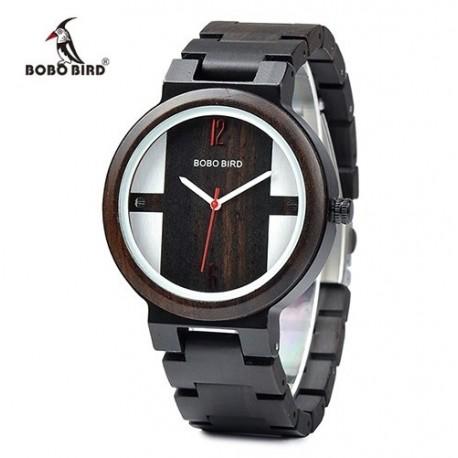 Pánské dřevěné hodinky Bobo Bird E-Q19 hnědé