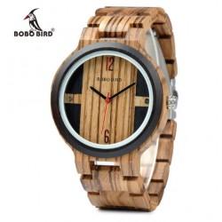 Pánské dřevěné hodinky Bobo Bird E-Q19 přírodní