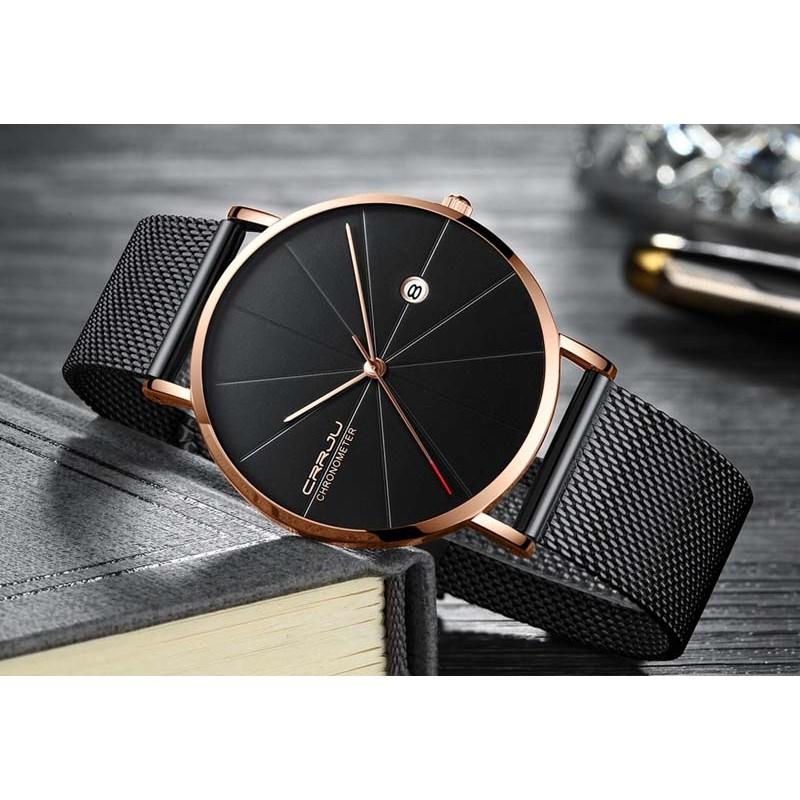 b2ef83ea4da Pánské hodinky CRRJU 2216 černo-zlaté