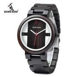 Dámské dřevěné hodinky Bobo Bird E-Q19 hnědé