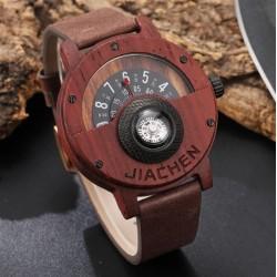 Pánské dřevěné hodinky Gorben Compass z červeného dřeva