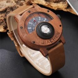 Pánské dřevěné hodinky Gorben Compass z hnědého dřeva