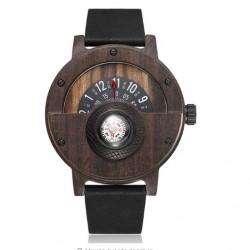 Pánské dřevěné hodinky Gorben Compass z černého dřeva