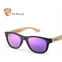 Dřevěné sluneční brýle Hu Wood GR1004 černo-fialové