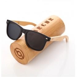 Dřevěné sluneční brýle BARCUR BC4175 černé