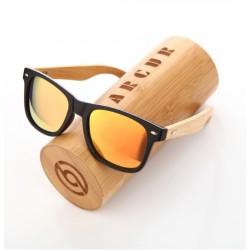 Dřevěné sluneční brýle BARCUR BC4175 oranžové