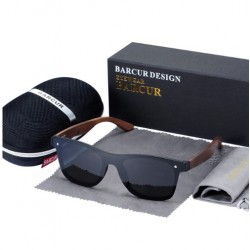 Dřevěné sluneční brýle BARCUR BC4126 černo-hnědé