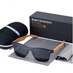 Dřevěné sluneční brýle BARCUR BC4126 zebrano černé
