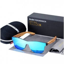 Dřevěné sluneční brýle BARCUR BC4126 zebrano modré