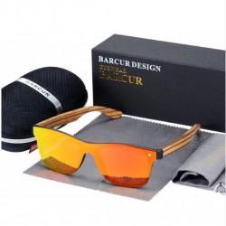 Dřevěné sluneční brýle BARCUR BC4126 zebrano oranžové