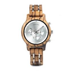 Dámské dřevěné hodinky Bobo Bird Stopwatch W-P18 stříbrné