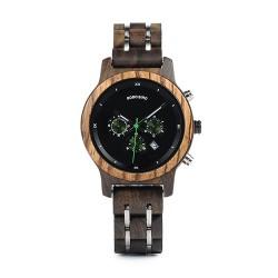 Dámské dřevěné hodinky Bobo Bird Stopwatch W-P18 černé