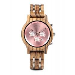 Dámské dřevěné hodinky Bobo Bird Stopwatch W-P18 růžové