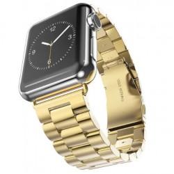 Kovový řemínek pro Apple Watch 38 mm zlatý