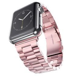 Kovový řemínek pro Apple Watch 38 mm růžový