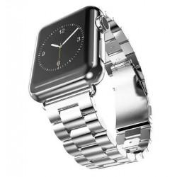 Kovový řemínek pro Apple Watch 42 mm stříbrný