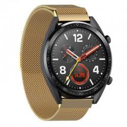 Řemínek Milánský tah pro Huawei Watch GT zlatý
