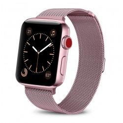 Řemínek Milánský tah pro Apple Watch 38 mm růžový