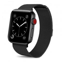 Řemínek Milánský tah pro Apple Watch 38 mm černý