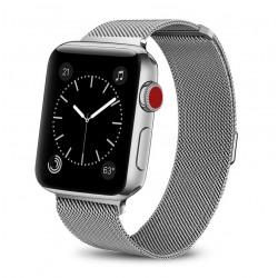 Řemínek Milánský tah pro Apple Watch 38 mm sříbrný