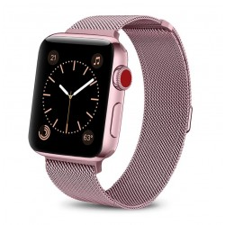 Řemínek Milánský tah pro Apple Watch 42 mm růžový