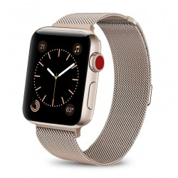 Řemínek Milánský tah pro Apple Watch 42 mm zlatý