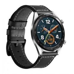Kožený řemínek pro Huawei Watch GT černý