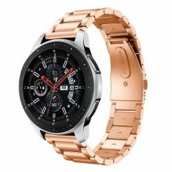 Kovový řemínek pro Samsung Galaxy Watch 46 mm růžový