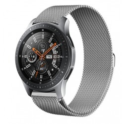Řemínek Milánský tah pro Samsung Galaxy Watch 46 mm stříbrný
