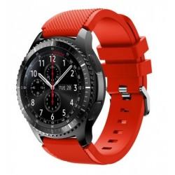 Silikonový řemínek pro Samsung Gear S3 červený