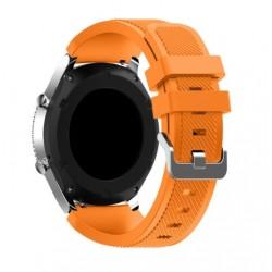 Silikonový řemínek pro Samsung Gear S3 oranžový