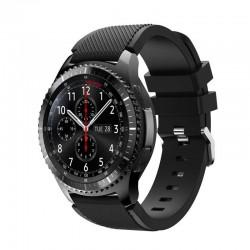 Silikonový řemínek pro Samsung Gear S3 černý