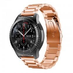 Kovový řemínek pro Samsung Gear S3 růžový