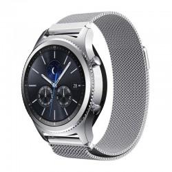Řemínek Milánský tah pro Samsung Gear S3 stříbrný