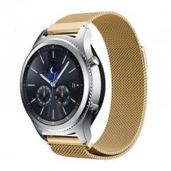 Řemínek Milánský tah pro Samsung Gear S3 zlatý
