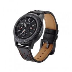 Kožený řemínek pro Samsung Gear S3 černý