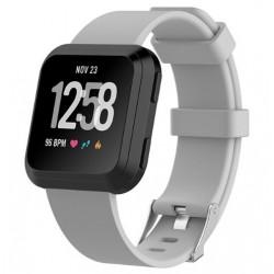 Sportovní silikonový řemínek pro Fitbit Versa šedý