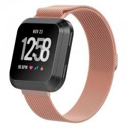 Řemínek Milánský tah pro Fitbit Versa růžový