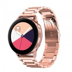 Kovový řemínek pro Samsung Galaxy Watch Active růžový