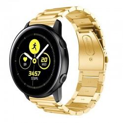 Kovový řemínek pro Samsung Galaxy Watch Active zlatý