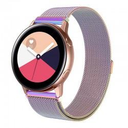 Řemínek Milánský tah pro Samsung Galaxy Watch Active duhový