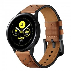Kožený řemínek pro Samsung Galaxy Watch Active hnědý